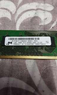 RAM 1gb DDR2 for PC