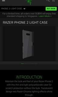 RAZER PHONE 2 LIGHT CASE [Authentic]