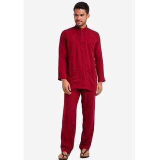 LUBNA Red Baju Melayu (NEW)