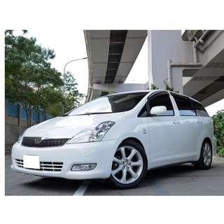 2006年 豐田 WISH 2.0 全車原鈑件 里程保證 全額貸款 低利率 強力過件 信用瑕疵 只需要3500即可交車