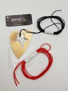 BREIL TRIBE DIY 電鍍心形星星頸繩 (配黑,紅兩色繩)