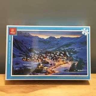 Jigsaw Puzzle plastic material - 1000pcs Beauty Dusk in French Alps Resort