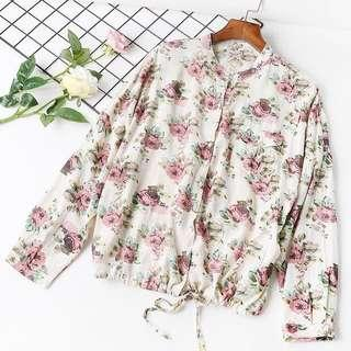 Floral Long Sleeve Button Blouse