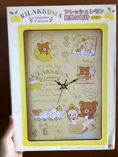 全新 日本景品 鬆弛熊 掛牆鐘