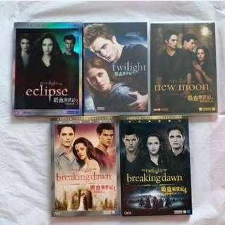 DVD 港版 吸血新世紀 1-4上下 The Twilight Saga