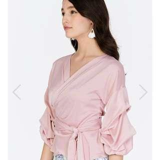 BN TCL Colette Wrap Top In Pink