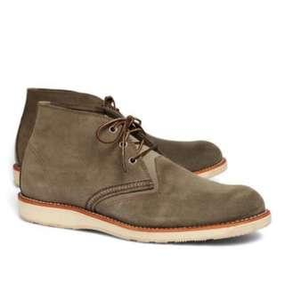 Red Wing 3144 Leather Desert Boots Olive suede