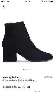 Aubree Black Block Boots