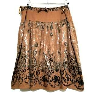 Pinko Premium Sequin Design Skirt