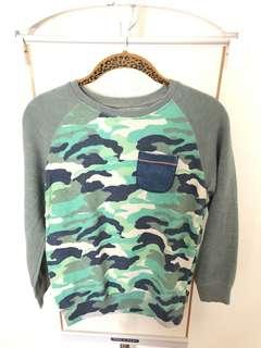 Like New!! Zara Boys Camouflage Print Pullover in Size 9-10 Yrs Old