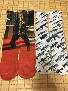 🚚 手槍 機關槍 掃射 西裝 襪子 美式 時尚 潮流