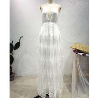 white wedding / beach dress