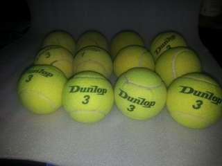 Garage Sale - Used DUNLOP Tennis Balls (4 Tubes)