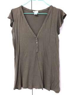 H&M Top in forest green color