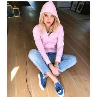 Chiara Ferragni 眨眼帆布鞋牛仔藍。40號