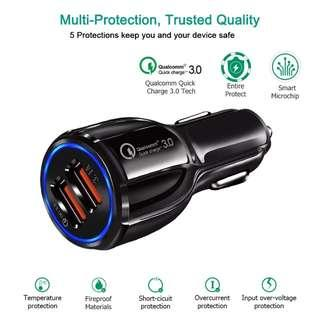 Qualcomm 2 Ports USB Car Charger