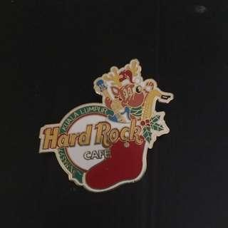 Hard Rock Cafe kuala Lumpur 1997 Xmas RARE Reindeer Santa Claus pin