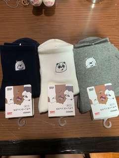 We Bare Bears Miniso Socks