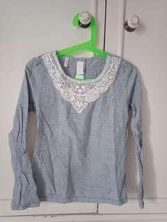 H&M Blouse with lace detail