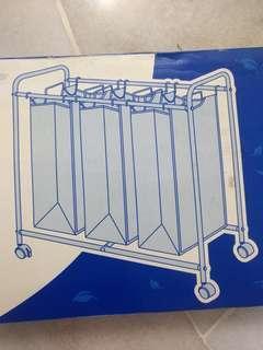 Laundry Basket (3 compartment) #CNYDECOR