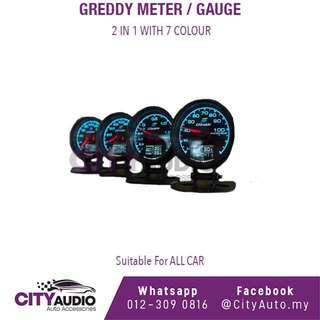 GReddy Meter / Gauge 2 In 1 With 7 Colour