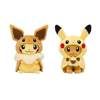 Pokemon Let's Go Pikachu and Eevee stuffed toy Plushie