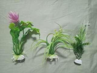 Aquarium plants (set of 3)