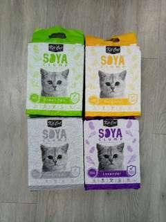 Soya cat litter