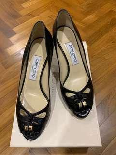 Brand New Jimmy Choo Black Heels, Size 37.5, 6cm Heel Height