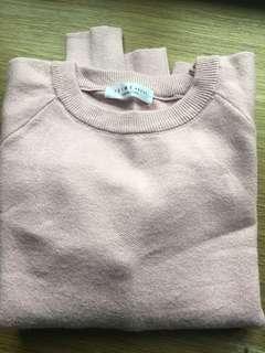 Light pink knit open shoulders