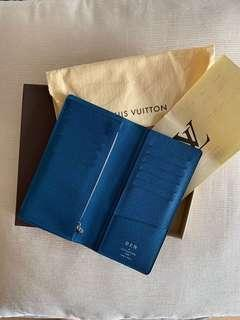 "Calling out to all ""Ben's""! Beautiful authentic LV BRAZZA EPI long wallet (Bleu) with your name on it!"
