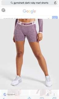 Gymshark flex shorts dark ruby marl