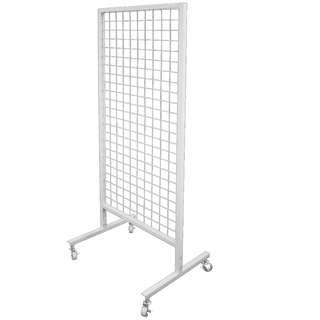 BN White Wire Mesh Stand with wheels