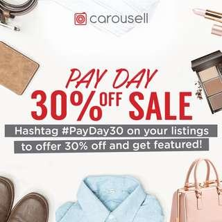November Pay Day Sale: 30% Off
