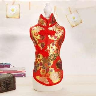 Brand new Pet cheongsam in XXL size (red)