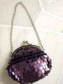 Purple coin pouch