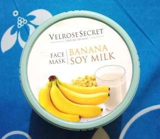 "Velrose Secret Nature Organic Face Mask ""Banana Soy Milk"""