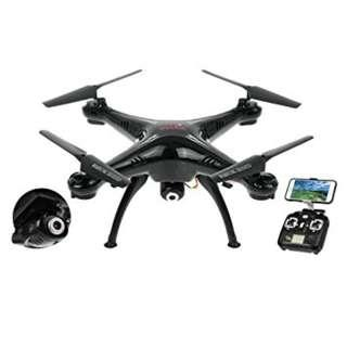 Syma X5SW Explorers 2 2.4GHz 4 Channel WiFi FPV RC Quadcopter with 2MP HD Camera 6 Axis 3D Flip Flight UFO RTF Syma X5W Explorers 2 RC Quadcopter/WiFi/FPV/RTF/HD Camera/360 Degree Eversion (Black)