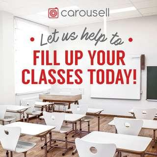 Let us fill up your classes today!