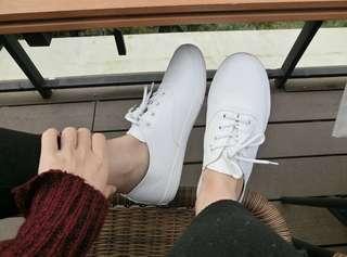 我人生最❤️小白鞋 皮軟百搭韓妞款