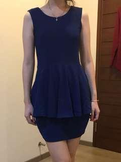 Electric Blue Peplum Dress