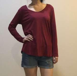 Cotton Ink Maroon Top