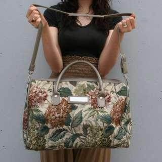 Vintage 1980s Floral Oversized Weekender Bag 古董 復古花圖案 大容量 單肩包 旅行包
