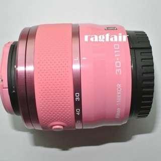 送順豐智能櫃 全新 Nikon 1 NIKKOR VR 30-110mm f/3.8-5.6 粉紅色遠攝長炮變焦鏡頭 J2 J3 J5 J1 V1 V3 AW1 S1 S2