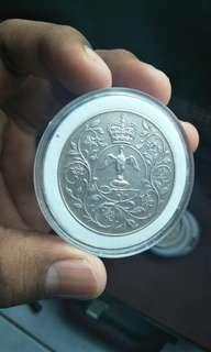 (3pcs) Elizabeth coins (crown size )