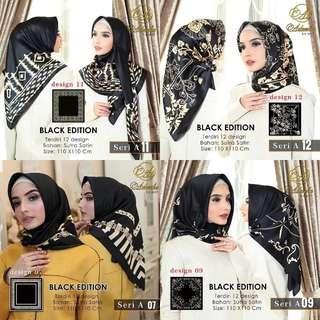 Hijab Segiempat Black Edition Ori Adheeva scraf