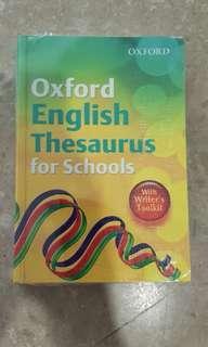 English Thesaurus for schools