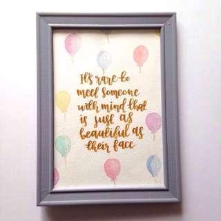 Custom Painting and Calligraphy Frame