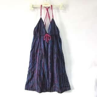 (L-XL) Billabong dress, garterized and adjustable under bust, adjustable shoulder straps, with black underlining, with embroidered billabong logo at front, super nice in actual, in almost looks new conditions