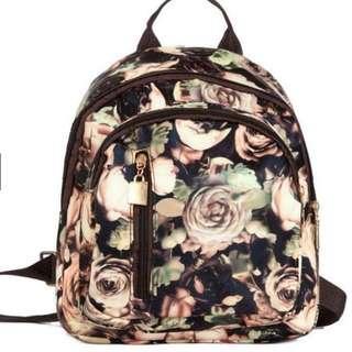 Floral Korean Mini Backpack